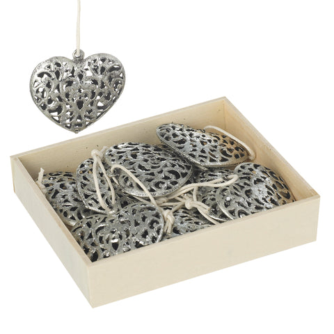 Metal Hanging Heart Decoration