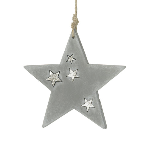 Cement Star Hanger Decoration