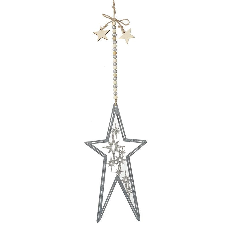 Silver Star With Stars Inside Dec Lge