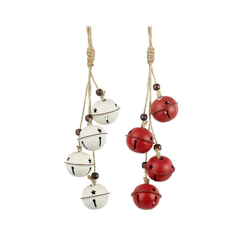 Red & White Mix Hanging Bell Bunches