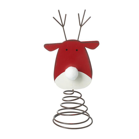 Metal Reindeer Tree Topper