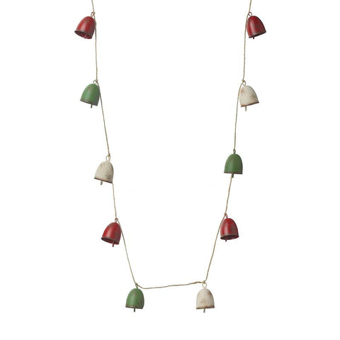 Red White Green Bell Garland