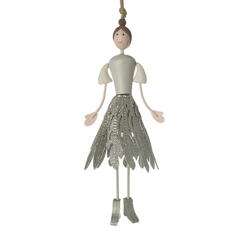 Fairy In Silver Feather Skirt