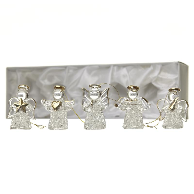 Boxed Hanging Glass Angels