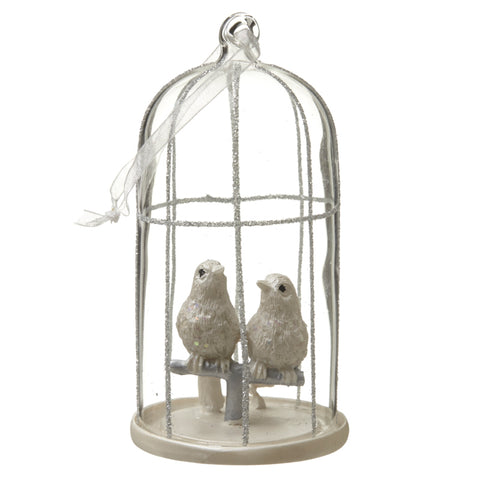 Hanging Glass Birdcage
