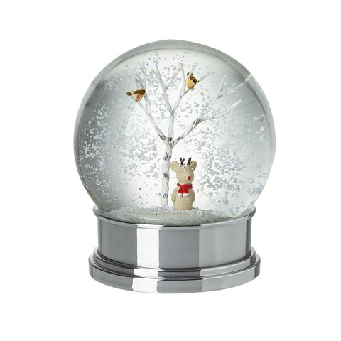 Snow Globe With Tree And Reindeer Inside