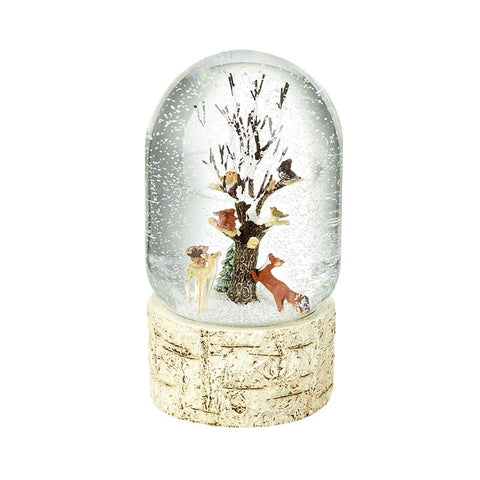 Woodland Animals Musical Snow Globe