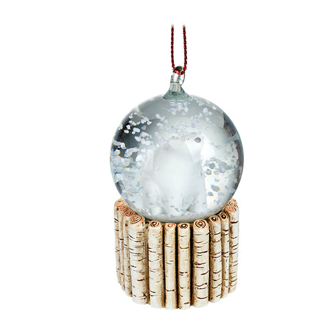 Hanging Polar Bear Snow Globe