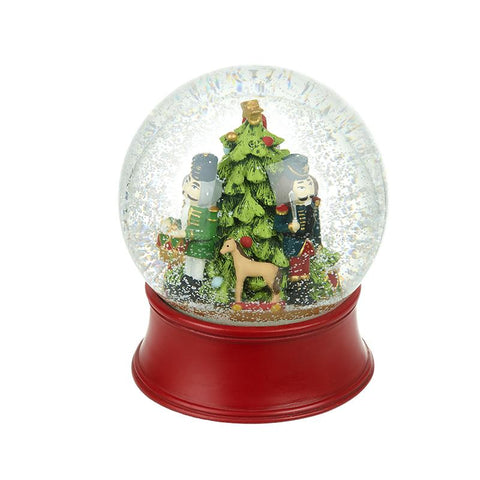 Xmas Tree & Nutcracker Soldier Snowglobe