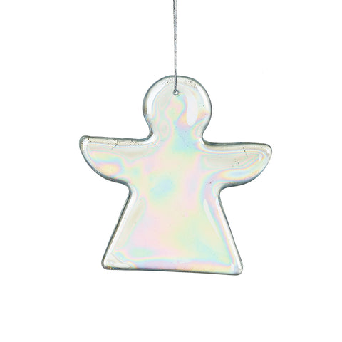 Hanging Minimalist Glass Angel