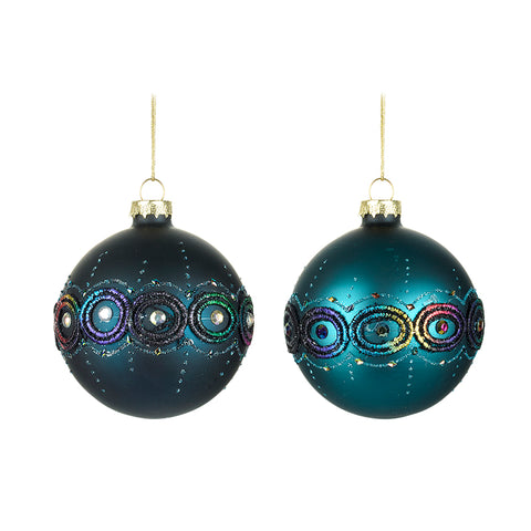 Blue Bauble Mix
