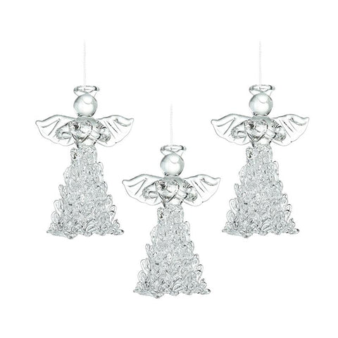 Glass Angel With Fancy Skirt Set 3