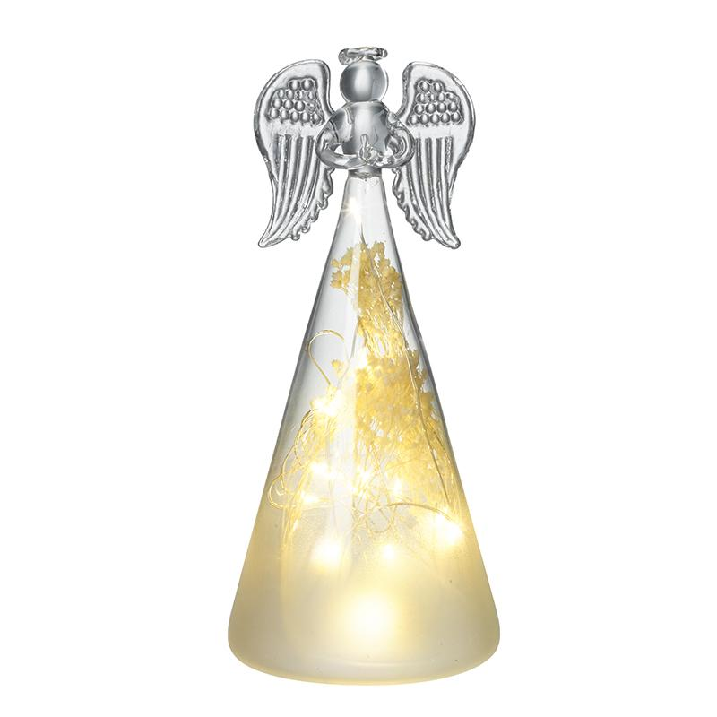 Small Light Up Glass Angel