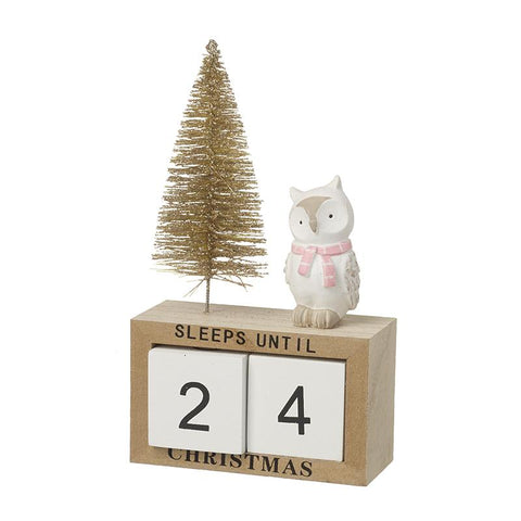 Wooden Advent Calendar With Owl