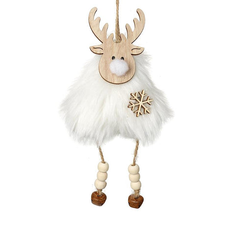 Wooden And Fur Hanging Reindeer