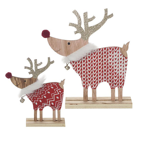 Wooden Reindeer Set