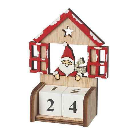 Wooden Santa Count Down To Christmas