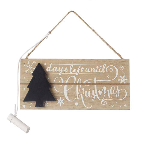 Chalkboard Days Left Until Christmas Countdown