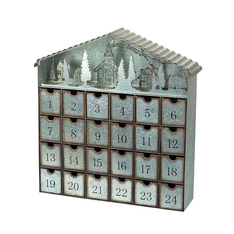 Light Up Metal Advent House