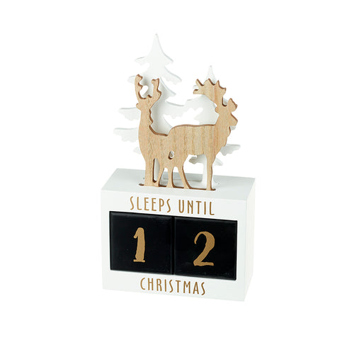 Gold Reindeer Advent Sleeps Til' Christmas