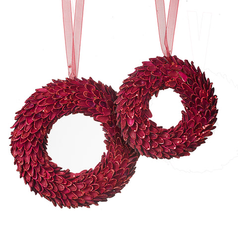 Hanging Red Wreath Set