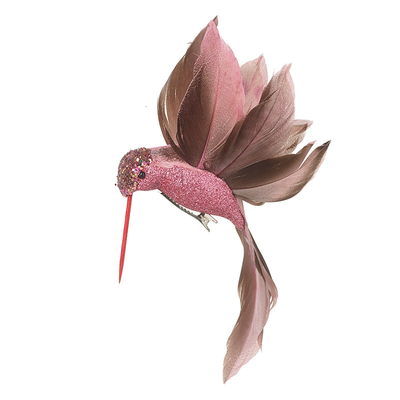 Pink Hummingbird Christmas Tree Decoration