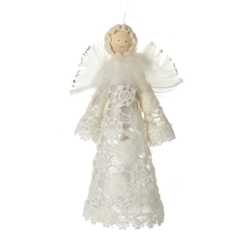 Small Standing Crochet Dress Angel