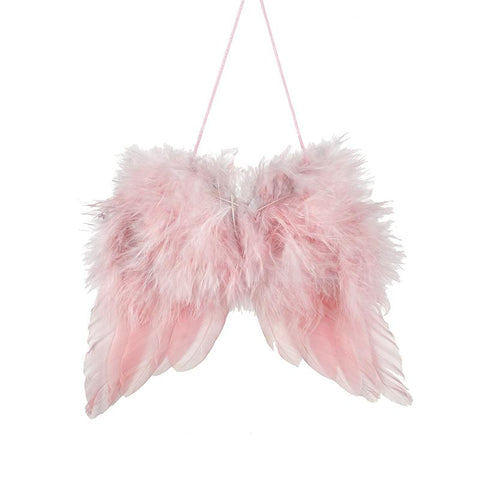 Pink Feather Hanging Wing - Small