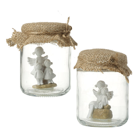 Angel Decorations in a Jar
