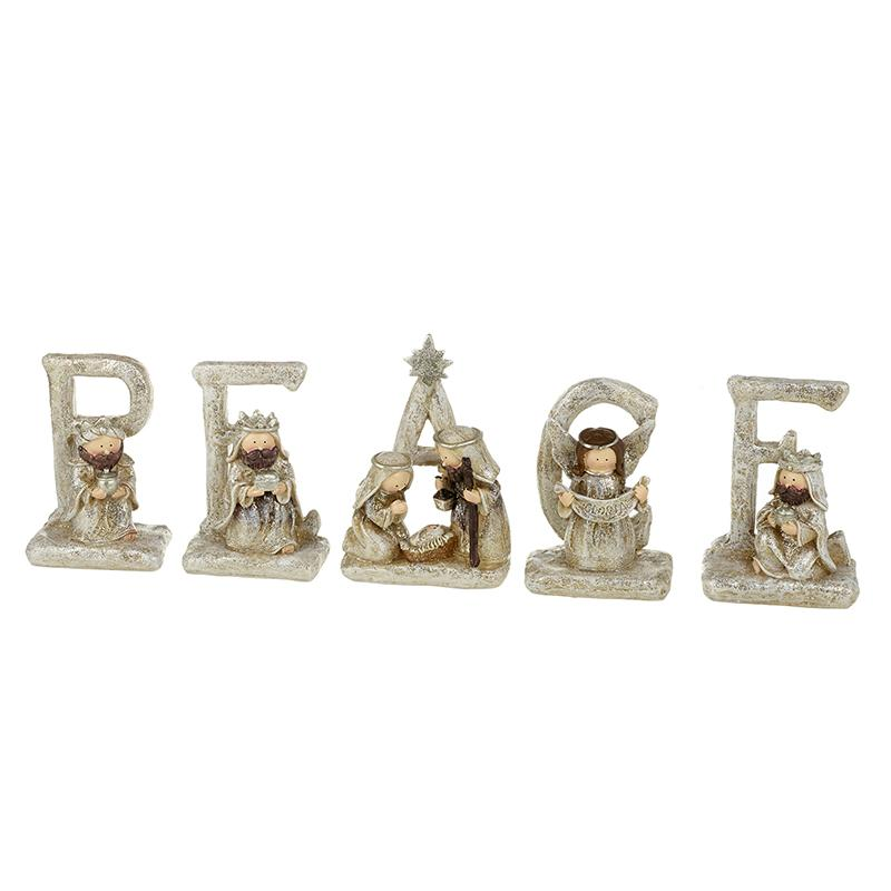 Nativity Peace Letters Set