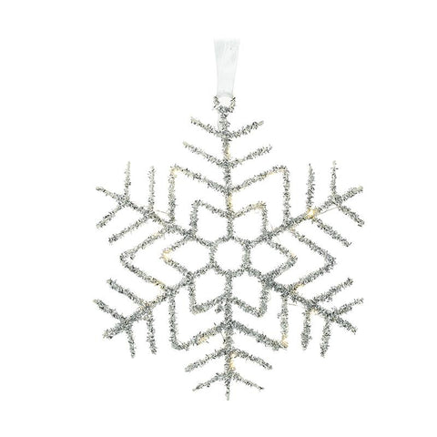 Light-Up Metal Snowflake Hanger