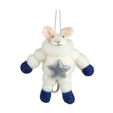 Spaceman Mouse In Silver Star Spacesuit