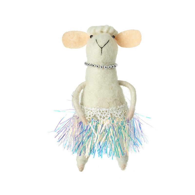 Sheep In Coloured Fancy Skirt