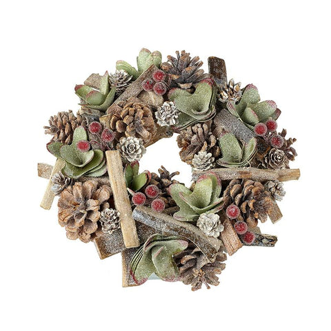 Green Pinecone Wreath