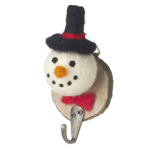 Felt Snowman Plaque With Hook