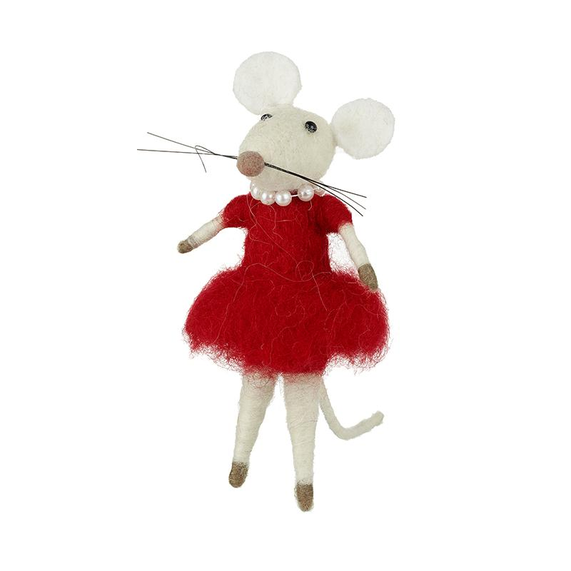 Wool Mouse In Dress Decoration
