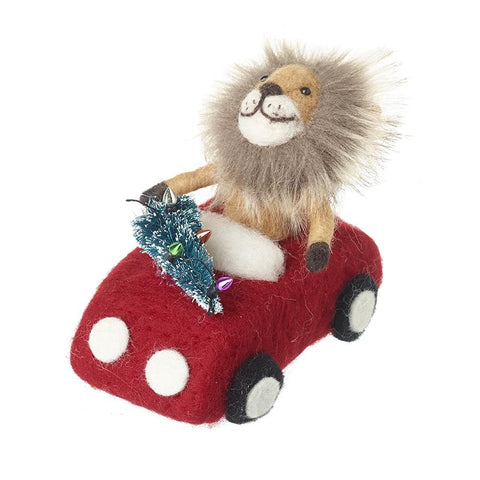 Woollen Lion In Car Decoration