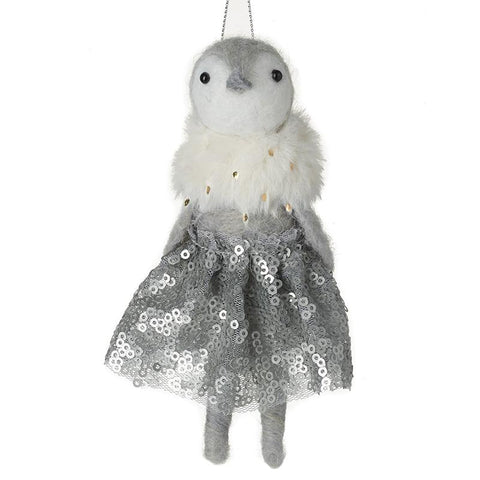 Woollen Penguin In Dress Tree Decoration