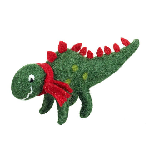 Felt Dinosaur With Scarf