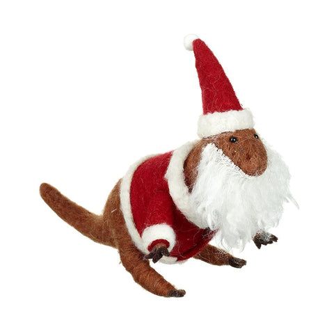 Felt Dinosaur Dressed As Santa