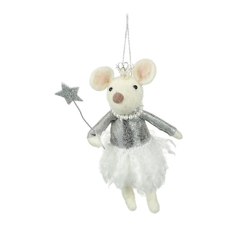 Silver & White Mouse With Star Wand