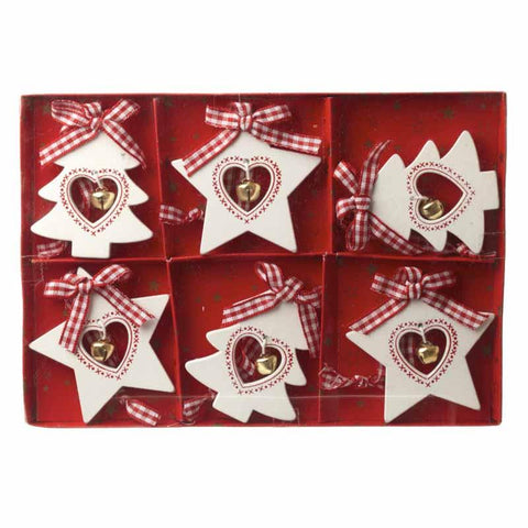 Hanging Wooden Star & Tree Set