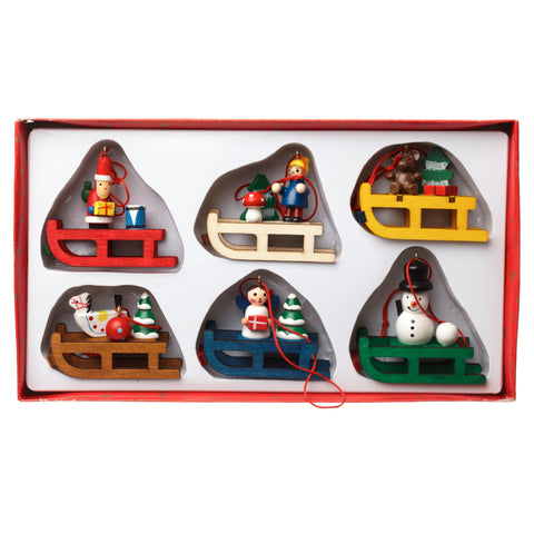 Hanging Wooden Sleigh Set