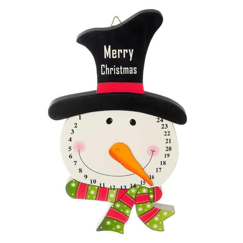 Wooden Snowman Advent Countdown