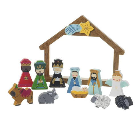Boxed Wooden Nativity