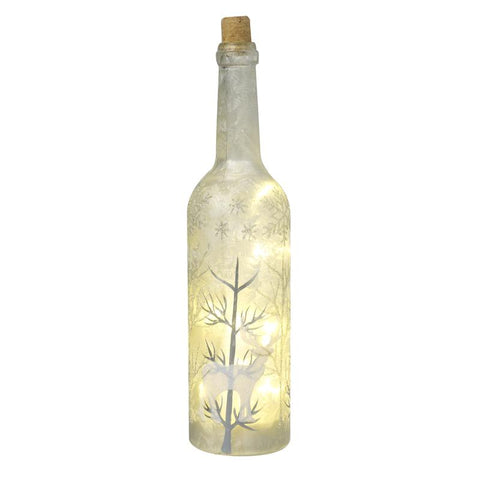Highly Decorated Frosty Glass Led Bottle