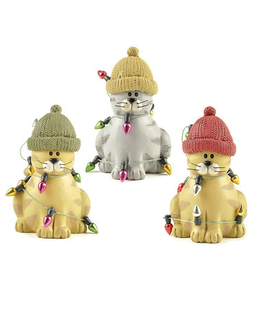 Set Of 3 Cats Decoration