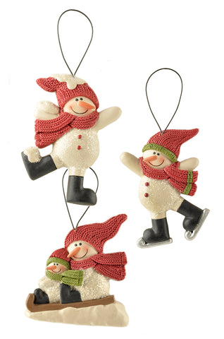 Set of 3 Hanging Snowman Decorations