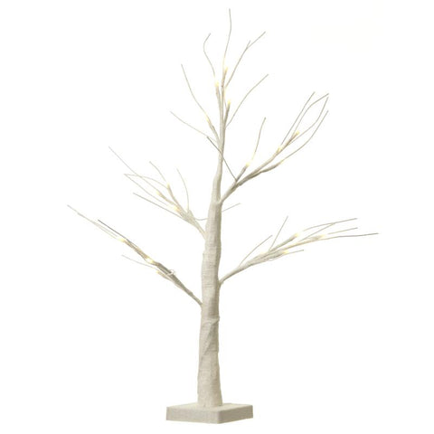 Tree With Led Battery White Glitter
