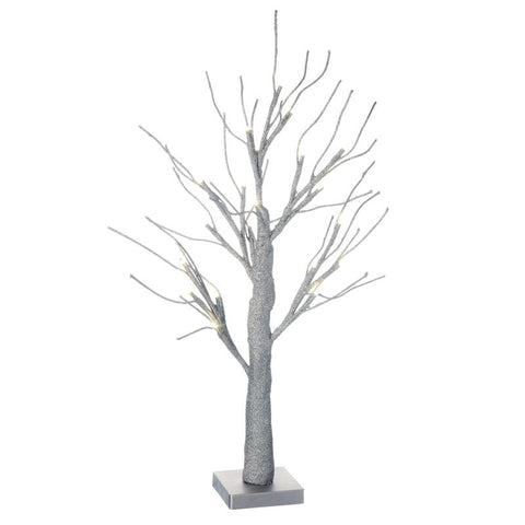 Silver Light Up Tree